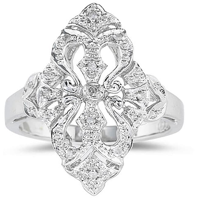 Marquee Jewels 10k White Gold Diamond Accent Cocktail Ring