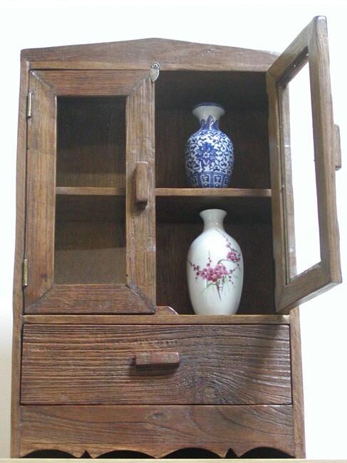 Teak Wood Curio Cabinet (Thailand)
