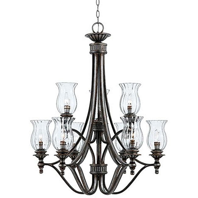 kessler 2-tier 9-light chandelier - 11353206 - overstock com shopping