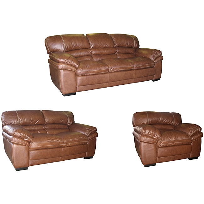 Uptown Chocolate Brown Sofa Loveseat And Chair Set