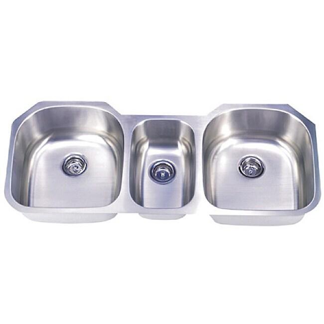 Triple Sink : ... 16-gauge Stainless Steel 35-inch Triple Bowl Undermount Kitchen Sink