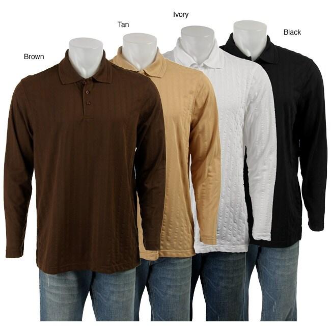 Andrew Fezza Men 39 S Long Sleeve Solid Polo 11357422