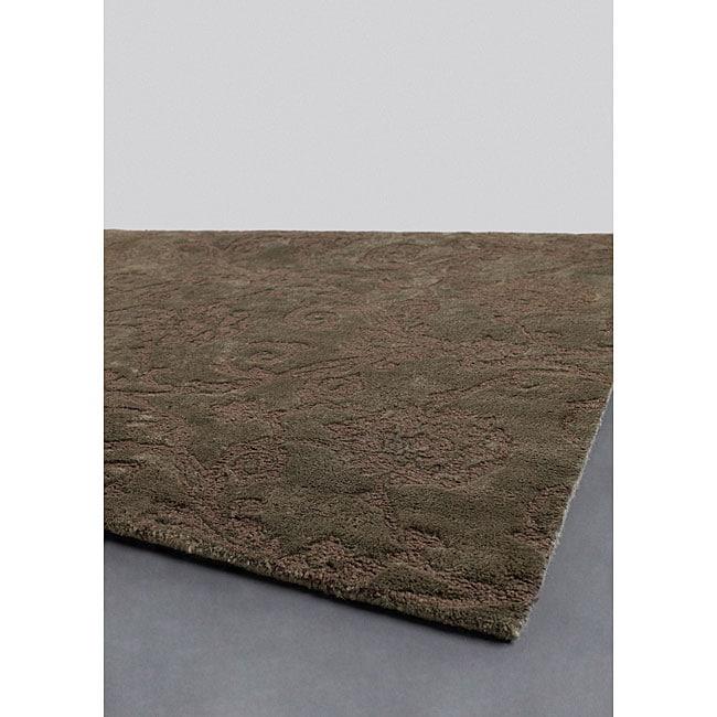 Hand-tufted Mandara Collection Jute Rug (5' x 7'6)