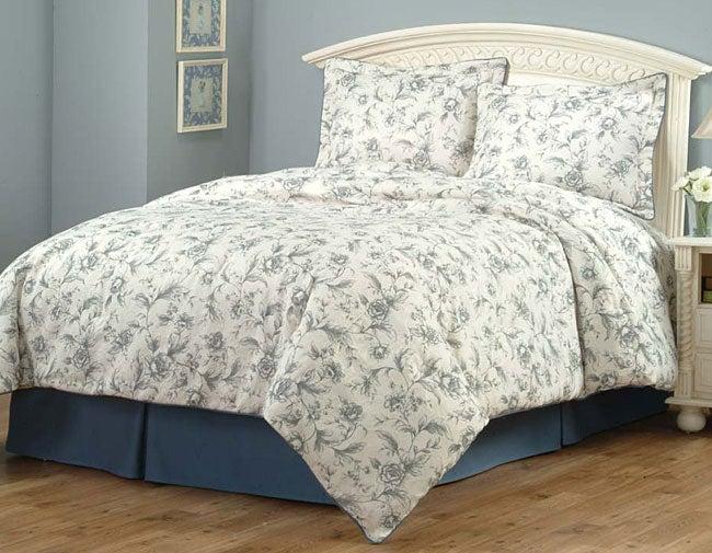 Toile King Bedding: Toile Garden Chachdal Comforter Set (King)