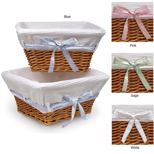 Honey Basket Set with Waffle Liner and Ribbons
