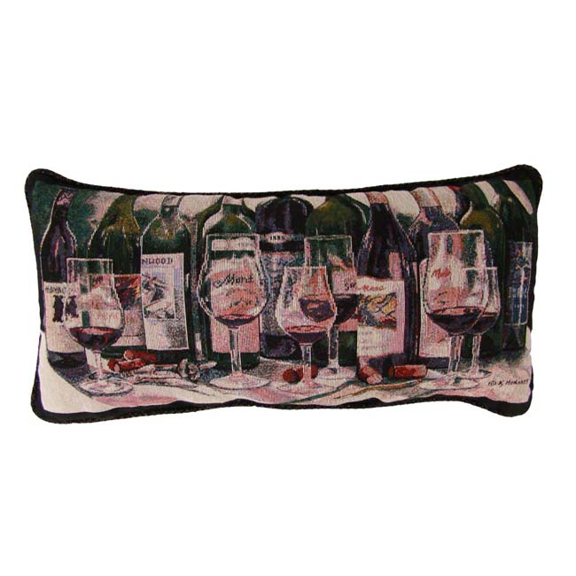 Wine Bottles Tapestry Pillows (Set of 2)