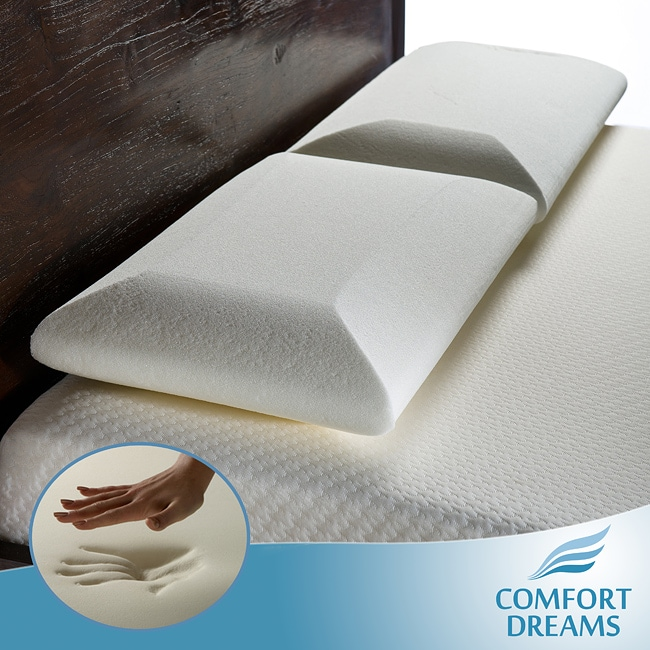 Comfort Dreams Crowned Classic Queen-size Memory Foam Pillows (Set of 2)