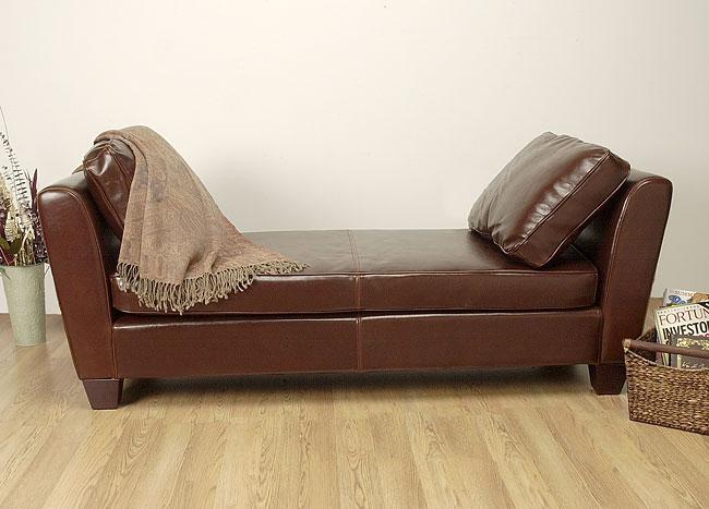 Paris Dark Brown Leather Bench/Daybed