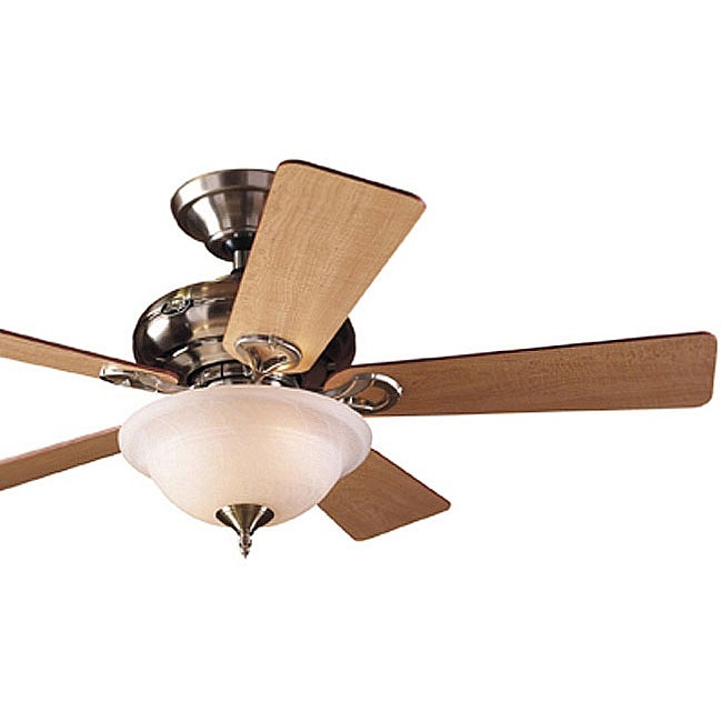 Hunter 44-inch Brushed Nickel Ceiling Fan with Light (Refurbished)