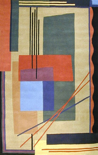 Hand-tufted Dazzle Multicolor Wool Rug (8' x 11')