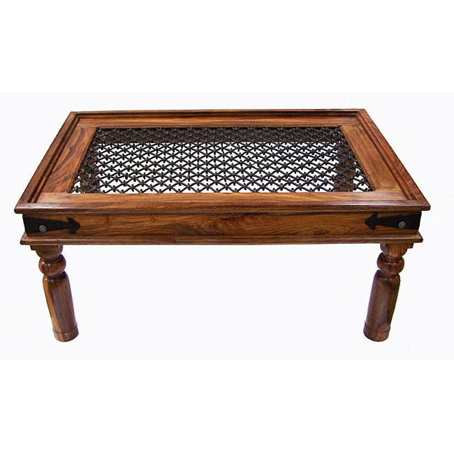 Rustic indian rosewood coffee table india 11402368 for Indian coffee table