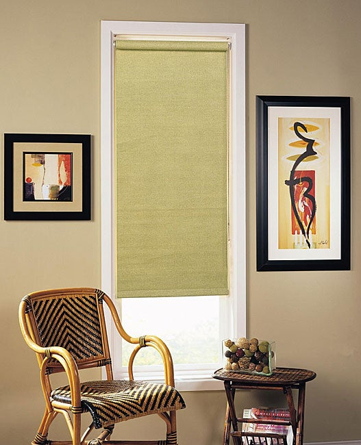 Woven Sage Roller Shade (21 in. x 72 in.)
