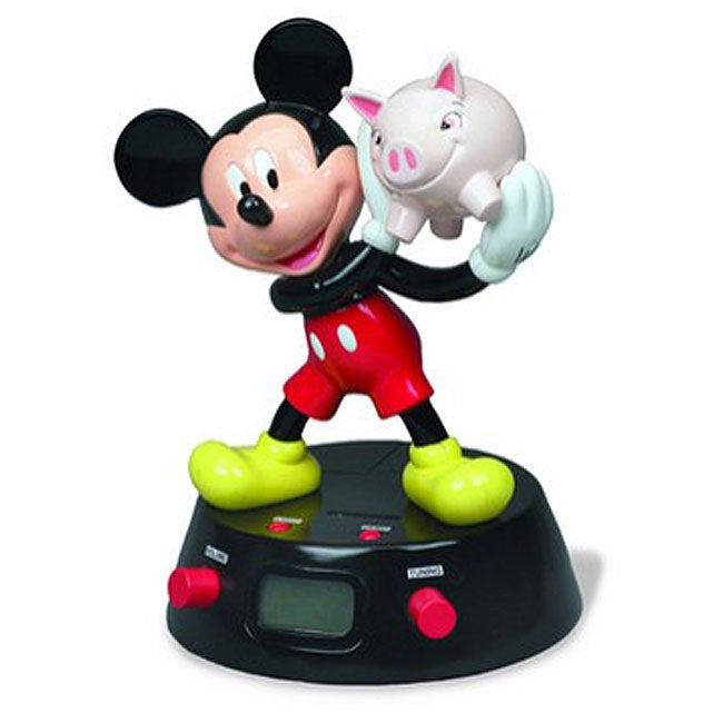 Disney's Mickey Mouse Coin Bank Alarm Clock