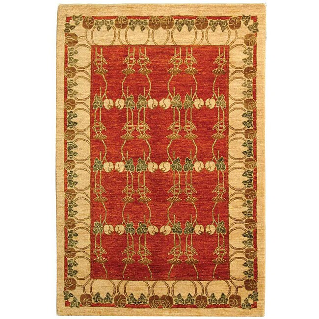 Persian Hand knotted Tiffany Rust Rug (4 x 6)