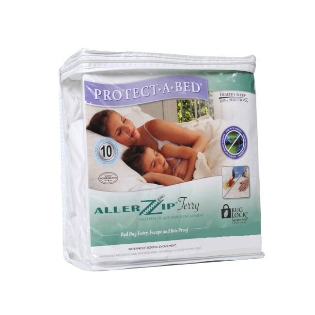 AllerZip Terry Twin Extra Long Bedbug-proof Waterproof Mattress Protector