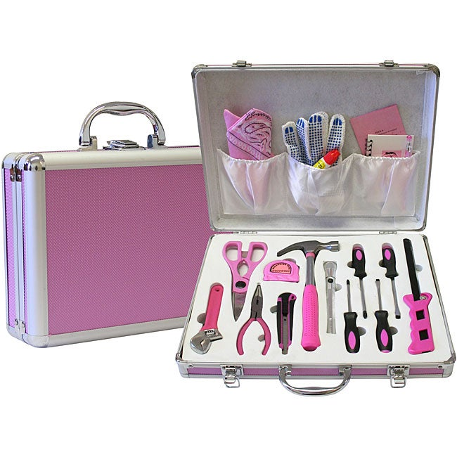 Women 39 s pink 18 piece tool set 11414804 for Garden tool set for women