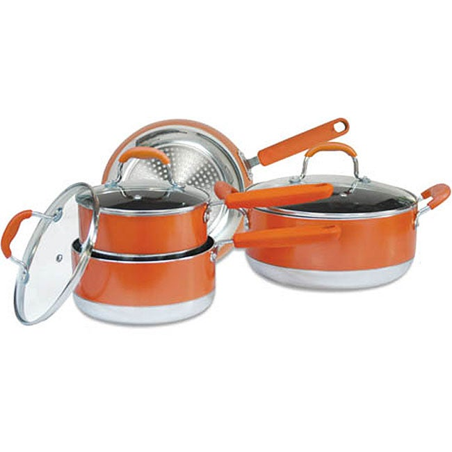 Concord 7-piece Orange Nonstick Cookware Set