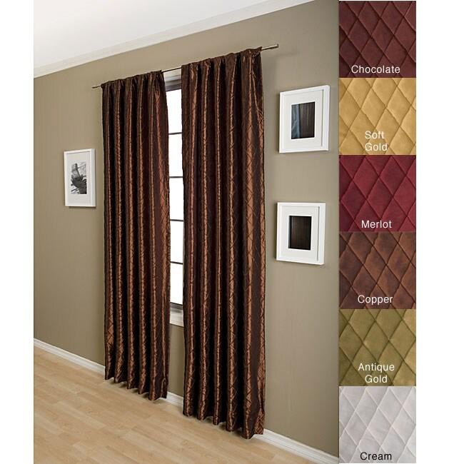 Marquis Diamond Taffeta 84-inch Curtain Panel