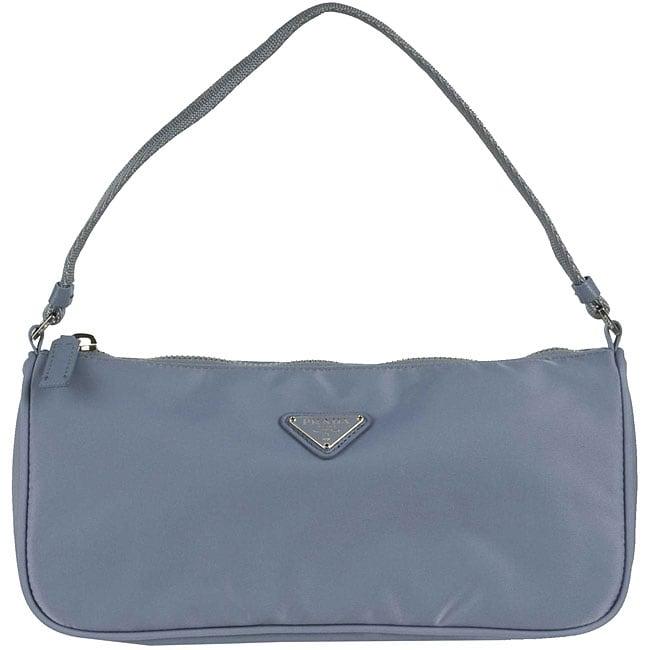 blue pradas - Prada 'Tessuto Sport' Light Blue Nylon Small Handbag - 11432901 ...