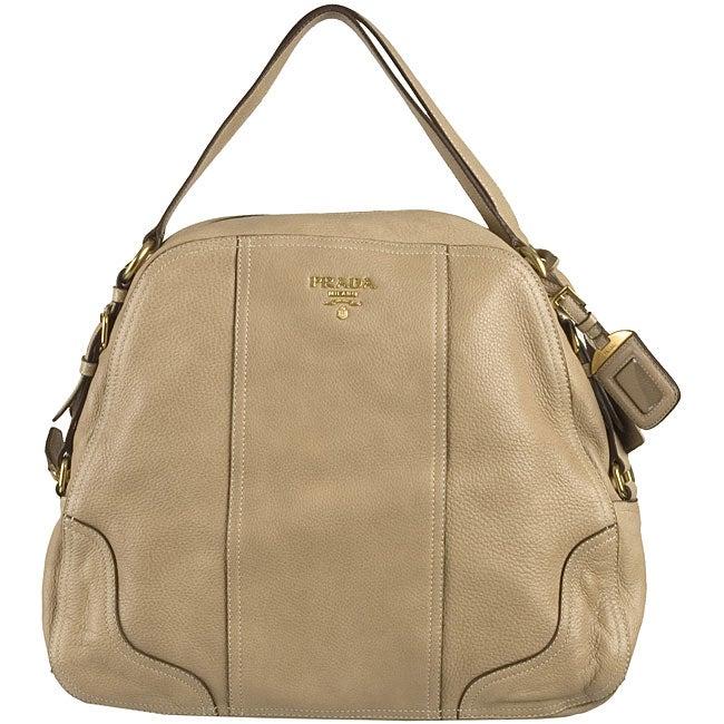 prada bags and purses - Prada 'Cervo Antik' Large Leather Zip-top Tote - 11436072 ...