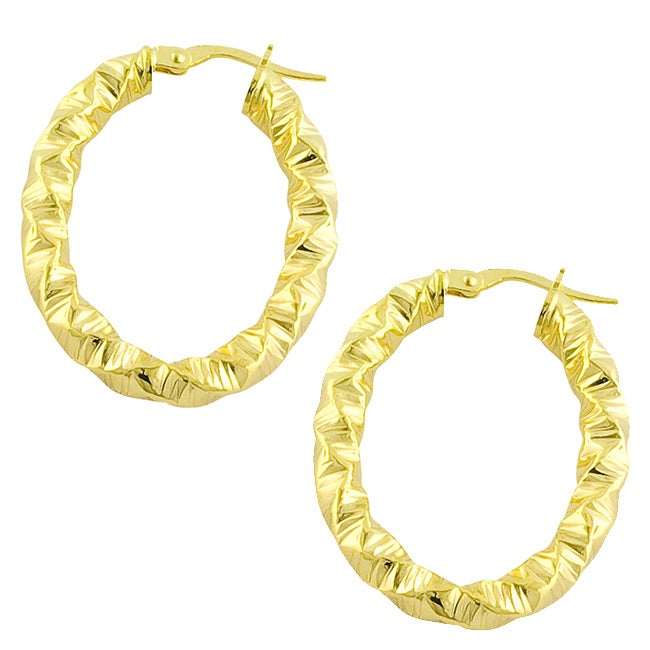 GoldKist 18k Gold over Silver Hammered Earrings