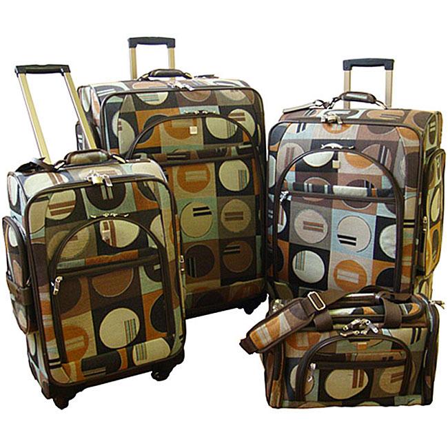 Hawaiian Luggage Sets 4-piece Euro Luggage Set