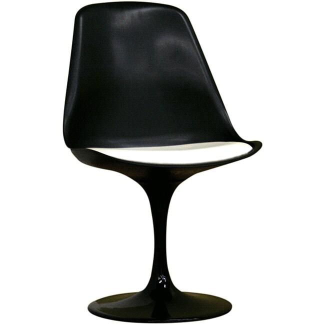 Redd Black Chair with White PVC Cushion