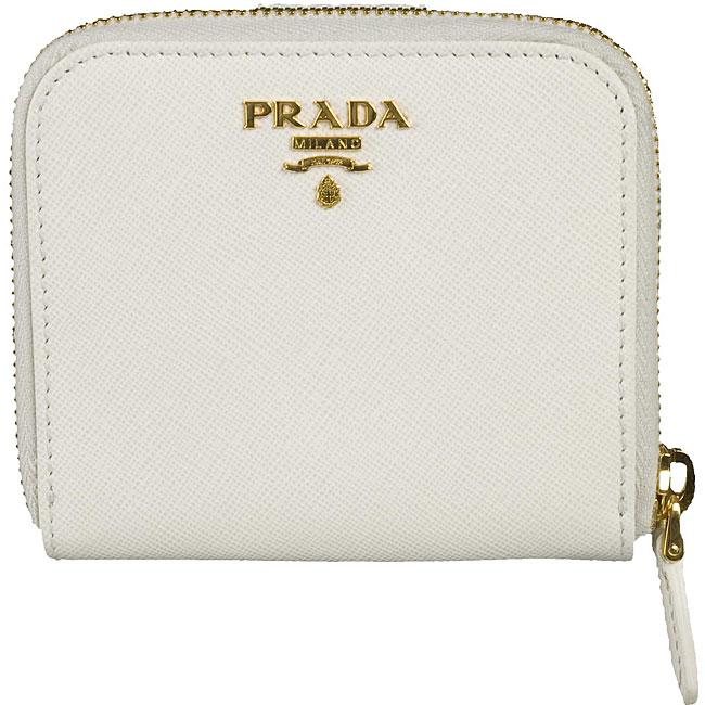 prada purse sale - Prada White Leather Saffiano French Wallet - 11442708 - Overstock ...