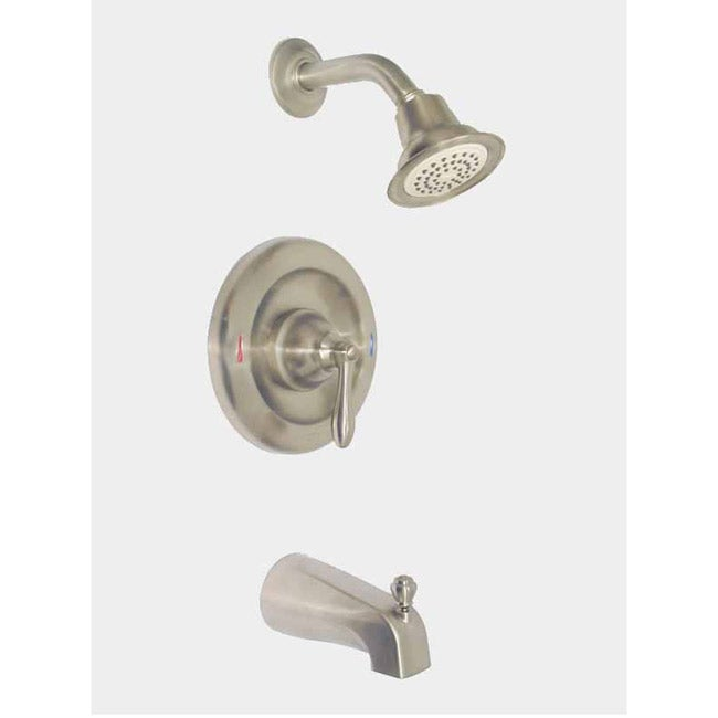 Moen Caldwell Brushed Nickel Tub and Shower Faucet