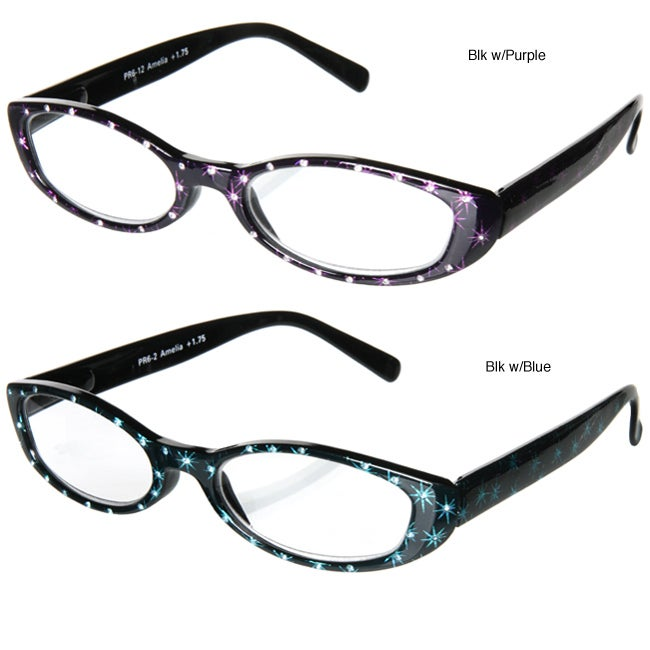Pepper's 'Amelia' Starburst Rhinestone Frame Reading Glasses