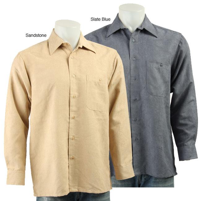 ron chereskin men 39 s faux suede sport shirt 11454677