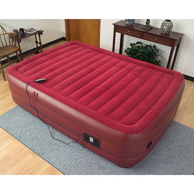 air cloud raised queen size air bed with remote 11457343 shopping great. Black Bedroom Furniture Sets. Home Design Ideas