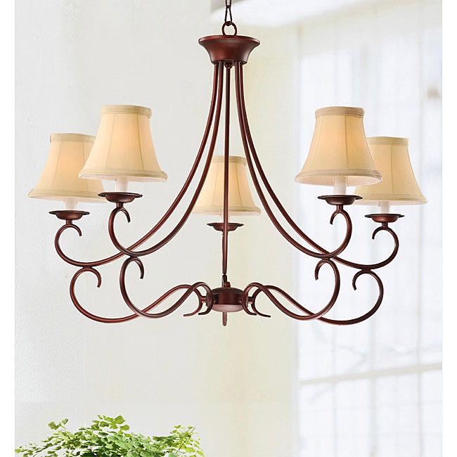 Iron 5-light Chandelier