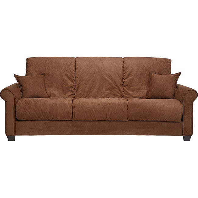 Lee Dark Brown Microfiber Futon Sofa Bed