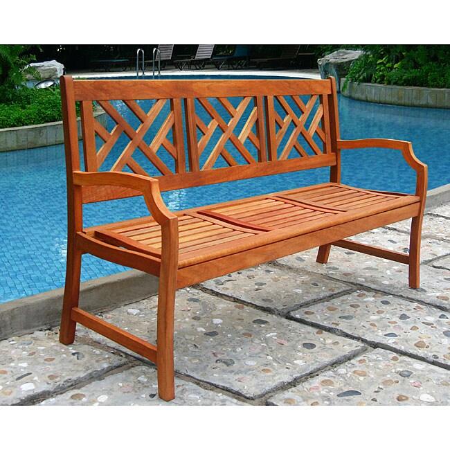Stylish Mahogany Shorea hardwood bench
