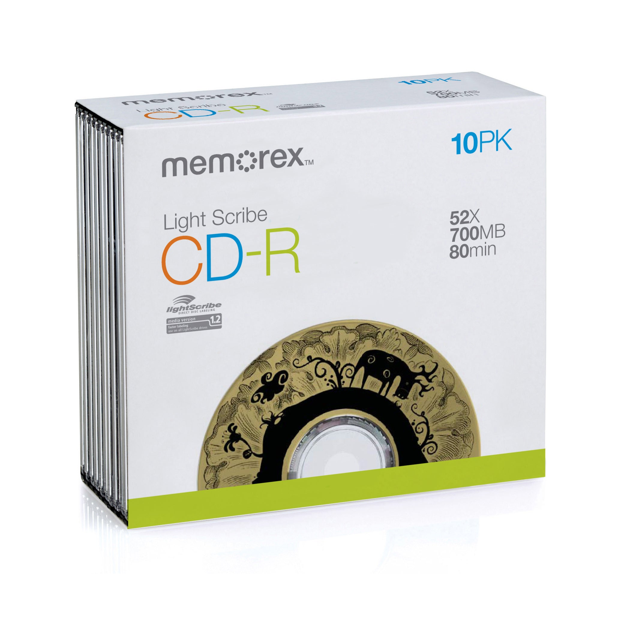 Memorex LightScribe 52x CD-R Media