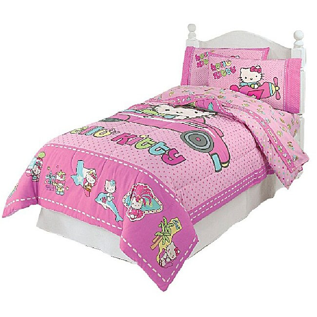 hello kitty bedroom sets hello kitty usa travel full size comforter set 11476797 15542 | L11476797