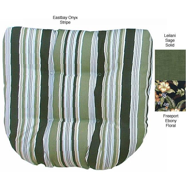 U-shaped Outdoor Green Stripe Chair Cushion