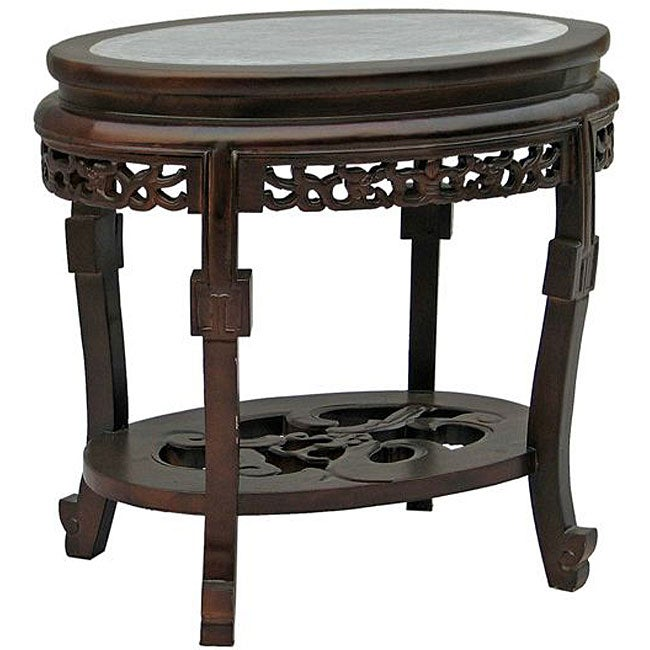 Marble Top Coffee And Side Tables: Antique-style Marble Top Coffee/ Accent Table