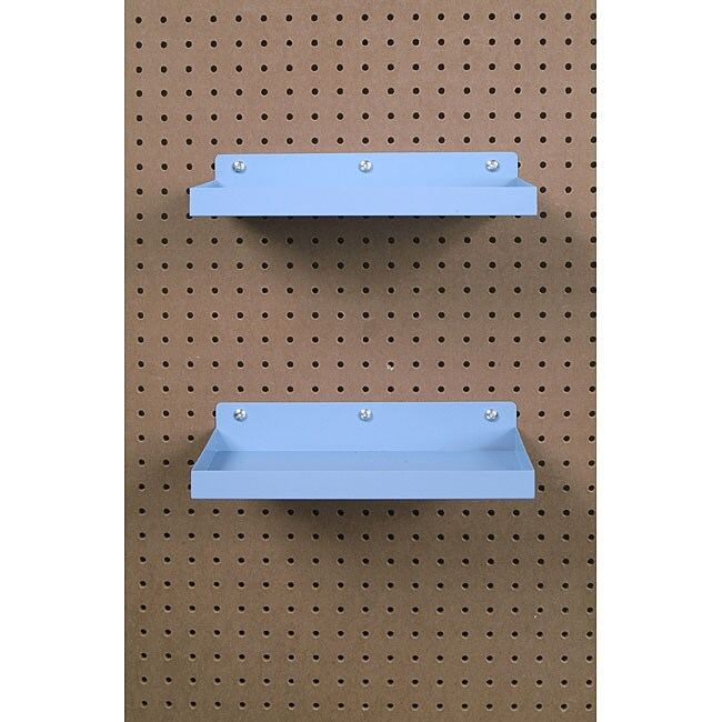 Epoxy-coated Steel Pegboard Shelf with Hooks