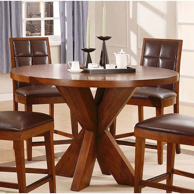 Round X Base Counter Dining Table