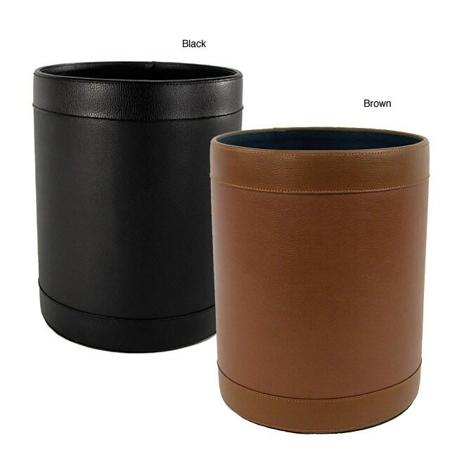 Buddy Leather Waste Basket