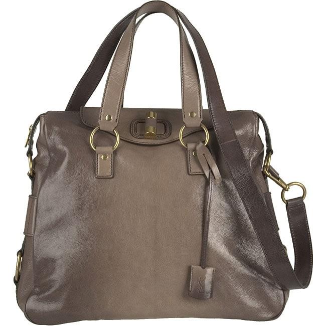 ysl bag de jour - Yves Saint Laurent \u0026#39;Rive Gauche\u0026#39; Grey Large Leather Bag - 11499542 ...