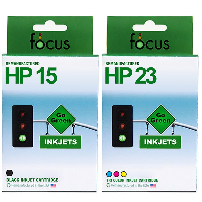 HP 15 & 23 2-pack Ink Cartridge Combo (Remanufactured)