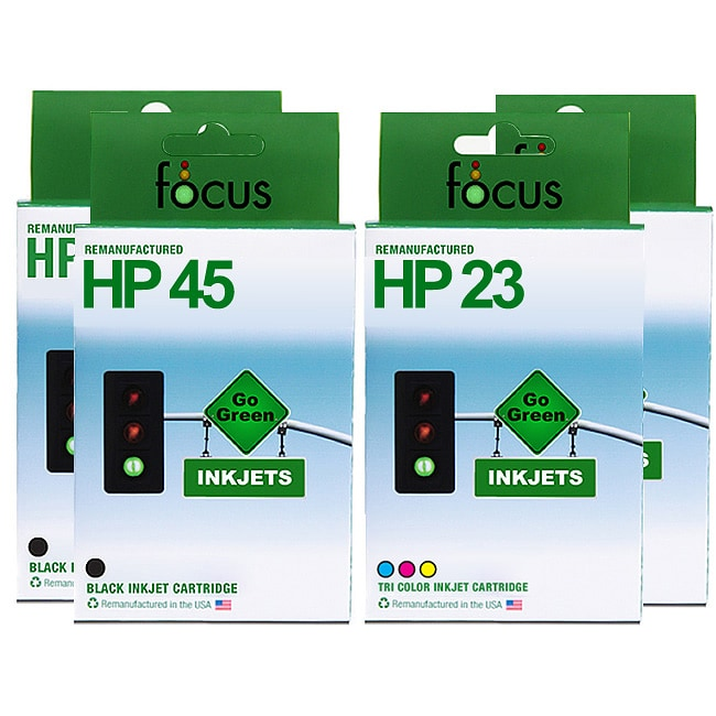 HP 45 & 23 4-pack Ink Cartridge Combo (Remanufactured)