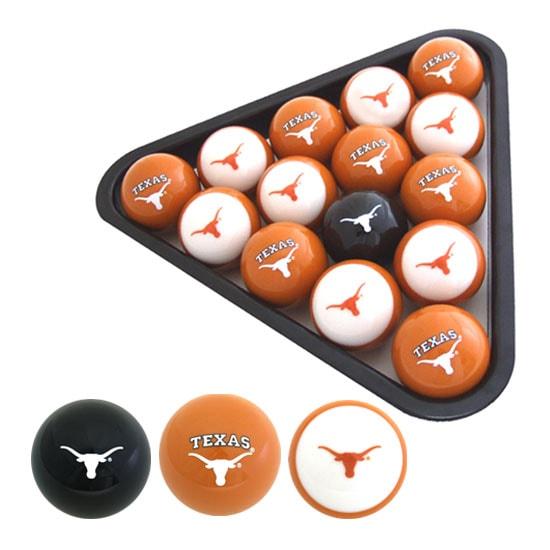 University of Texas Longhorns Billiard Balls