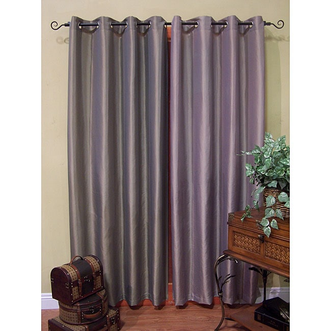 Venice Solid Grommet-top Curtain Panels (95 in. x 100 in.)