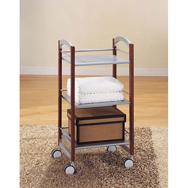 Metal 3-tier Rolling Storage Cart