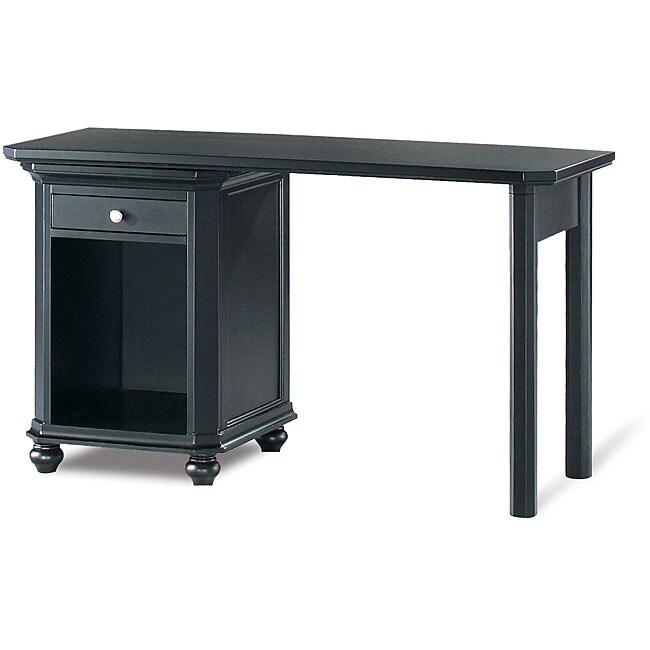 Tribeca Black Rubberwood CPU Cabinet Desk