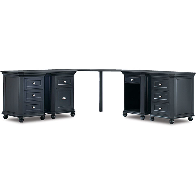 Tribeca Corner Desk with Four Cabinets